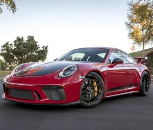 2017 Porsche 911 GT3 Carmine Red on Vorsteiner Wheels (VCS-002)